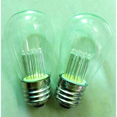 Holiday Bright Lights  LED  S14  Clear/Warm White  2 count Replacement  Christmas Light Bulbs