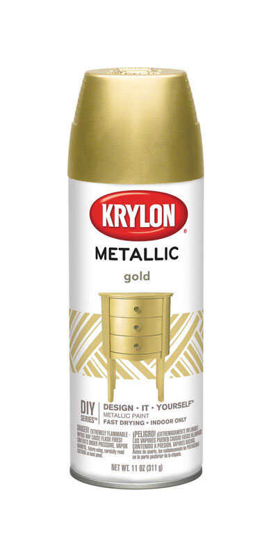Krylon  Brilliant  Gold  Metallic Spray Paint  12 oz.