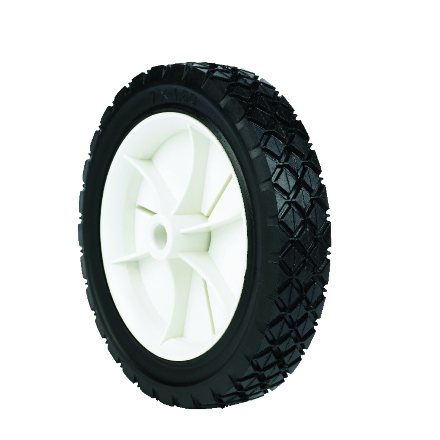 Arnold  7 in. Dia. x 1.5 in. W Lawn Mower Replacement Wheel  50 lb. Plastic