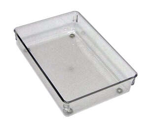 InterDesign  2 in. H x 6 in. W x 9 in. L Plastic  Clear  Drawer Organizer