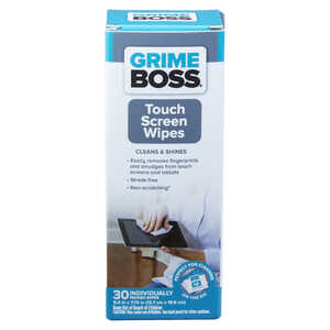 Grime Boss  Fiber Blend  Cleaning Wipes  7.75 in. W x 5 in. L 30 pk