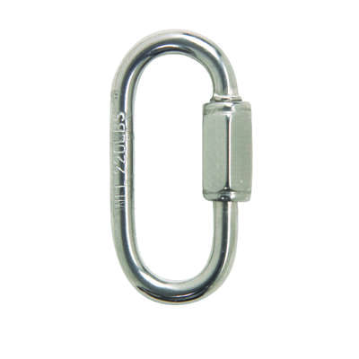 Campbell Chain  Polished  Stainless Steel  Quick Link  220 lb. 1-3/8 in. L