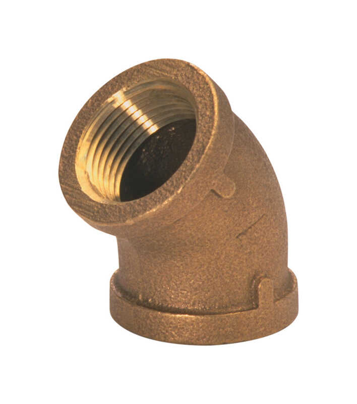 JMF  2 in. Dia. x 2 in. Dia. FPT To FPT  Brass  Pipe Adapter