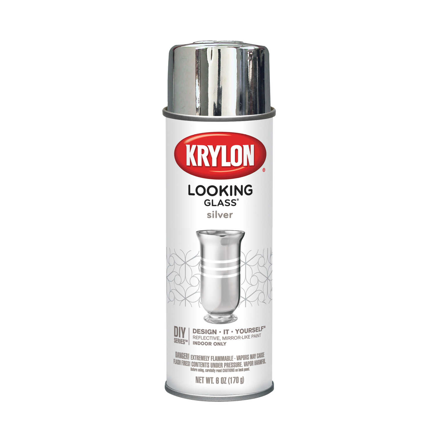 Krylon  Looking Glass  Spray Paint  Silver  6 oz.