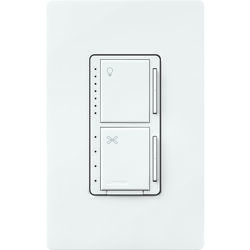 Lutron  Maestro  White  250 watts Fan/LED  Dimmer Switch  1 pk