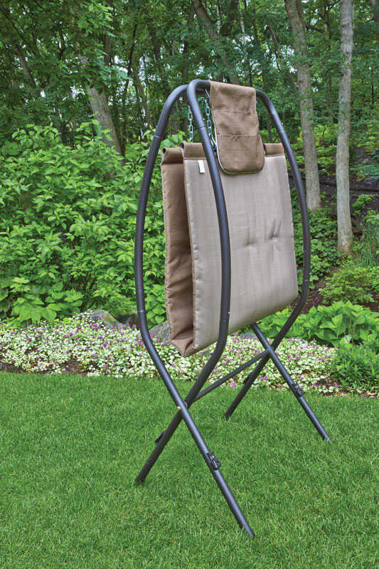 Living Accents  36.8 in. W x 93.7 in. L Hammock and Stand  With Stand