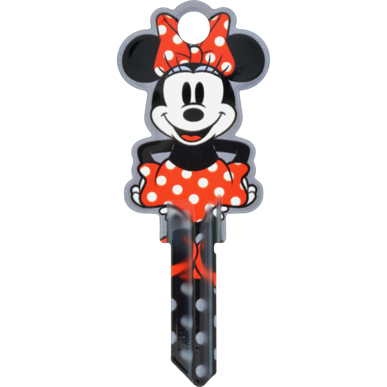 Hillman  Disney  Minnie  House/Padlock  Universal Key Blank  Double sided