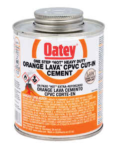 Oatey  Lava Hot  Orange  Cut-In Cement  For CPVC 8 oz.
