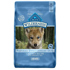 Blue Buffalo  Blue Wilderness  Chicken  Dry Puppy  Food  Grain Free 24 lb.