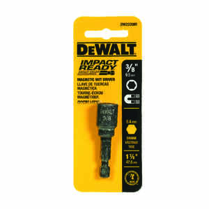 DeWalt  Impact Ready  3/8 in.  x 1-7/8 in. L Black Oxide  1 pc. Quick-Change Hex Shank  1/4 in. Nut