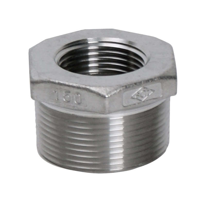 Smith-Cooper 1 in. MPT x 3/4 in. Dia. FPT Stainless Steel Hex Bushing