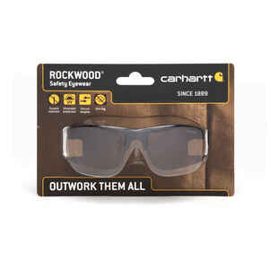Carhartt  Rockwood  Anti-Fog Safety Glasses  Sandstone Bronze Lens Black Frame 1 pc.