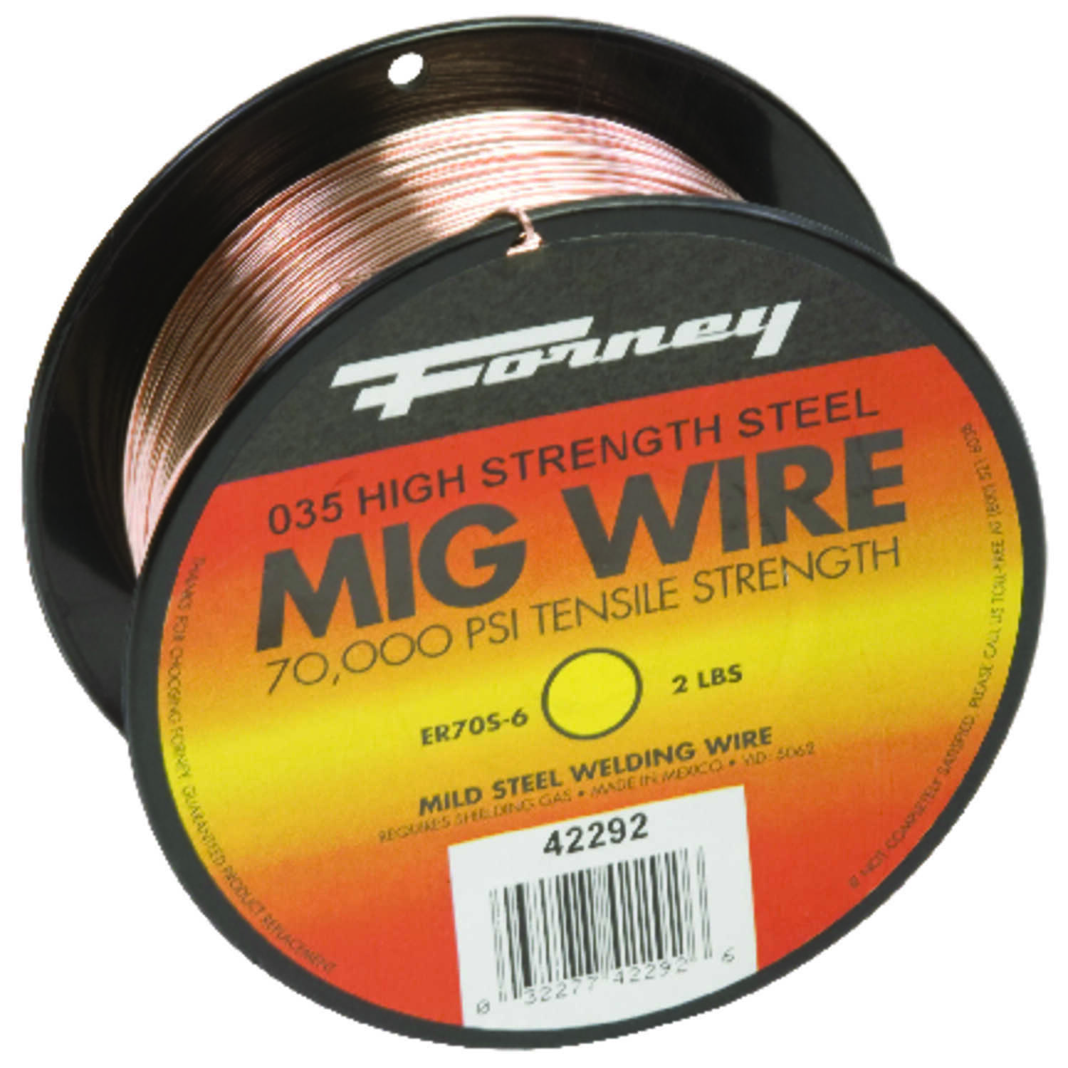 Forney  0.035 in. Mild Steel  MIG Welding Wire  70000 psi 2 lb.