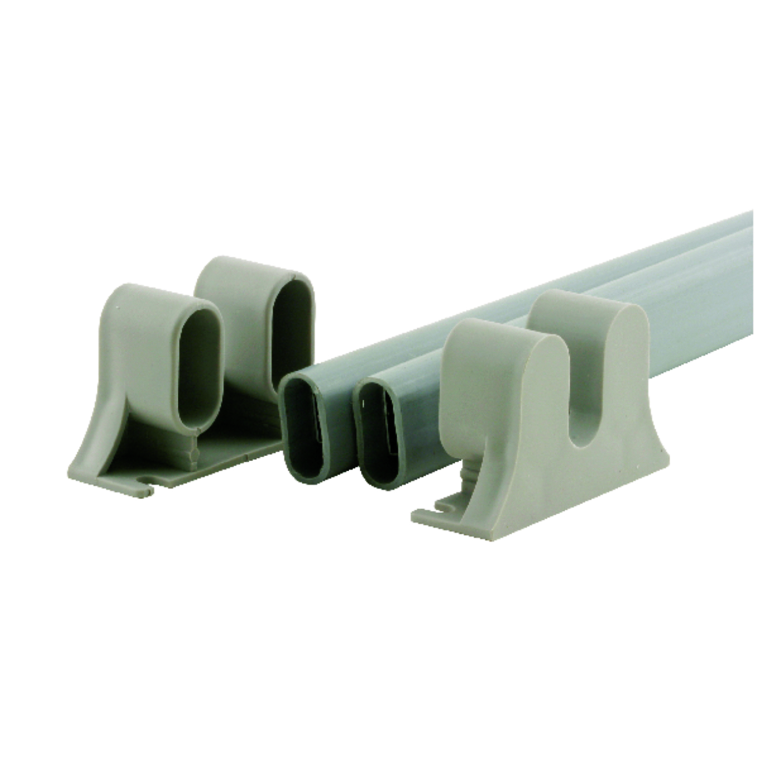 Prime-Line  Gray  Steel  Surface mount Push Plate  1 pk