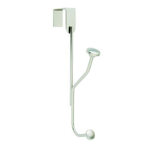 Amerock  9-3/4 in. L Chrome  Silver  Steel  Medium  Over the Door Single  Hook  1 pk