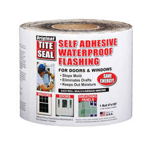 Cofair Products  Tite Seal  6 in. W x 100 ft. L Tape  Door/Window Flashing  Silver