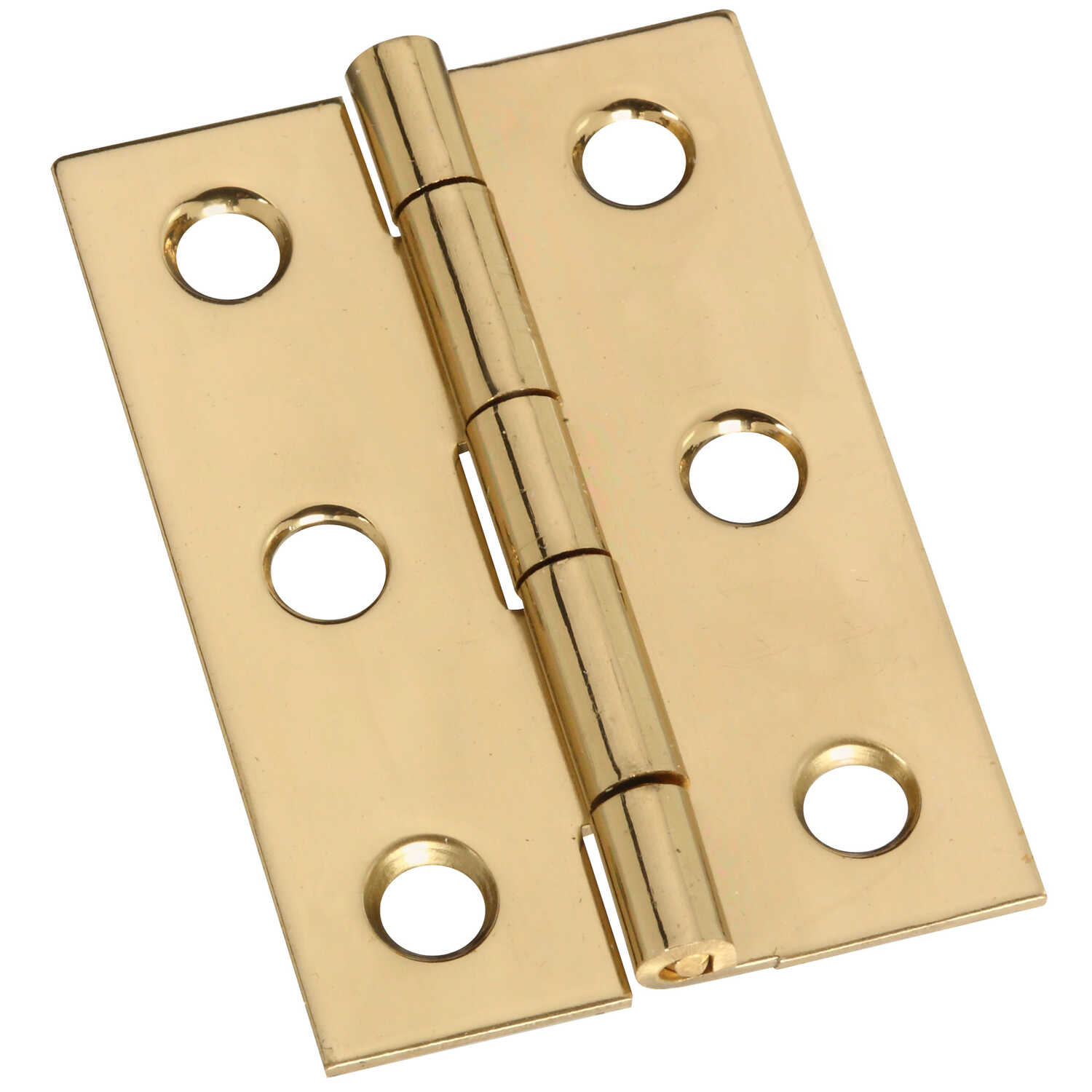 National Hardware  2 in. L Brass-Plated  Brass  Door Hinge  2 pk
