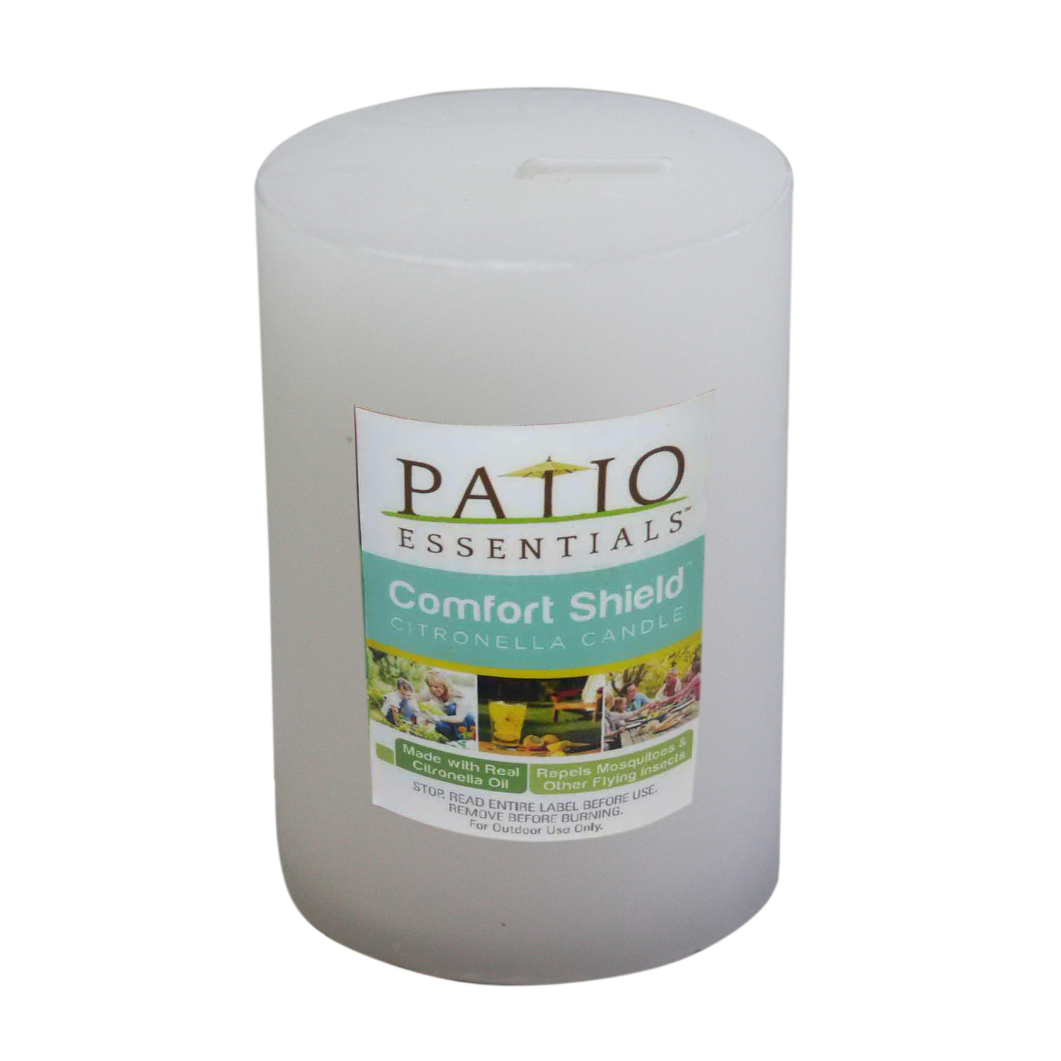 Patio Essentials  Candle  Wax  For Mosquitoes/Other Flying Insects 8 oz.