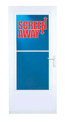 LARSON  Screen Away  81 in. H x 36 in. W Vinyl/Wood  White  Mid-View  Reversible  Storm Door