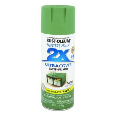 Rust-Oleum  Painter's Touch 2X Ultra Cover  Satin  Leafy Green  Spray Paint  12 oz.