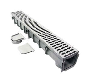 NDS  39-3/8 in. Polyolefin  Rectangle  Grate