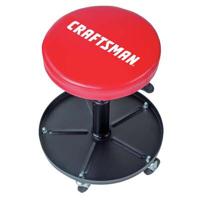 Craftsman 19-1/2 in. H x 16 in. W x 16 in. L Adjustable Mechanics Seat With Tray