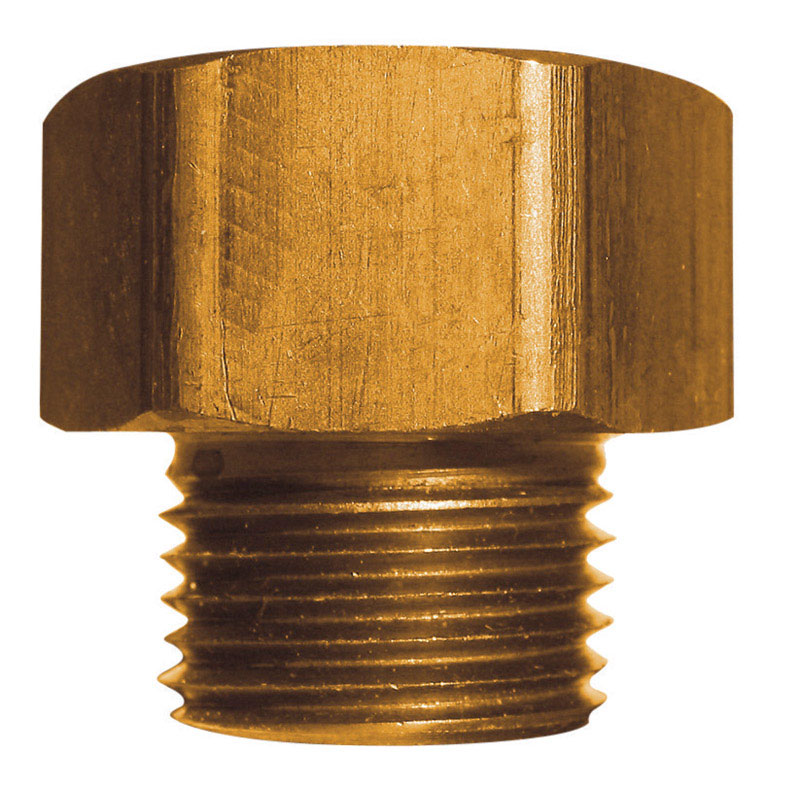 JMF  Brass  Hose Adapter  1/2 in. Dia. x 3/4 in. Dia. Yellow  1 pk