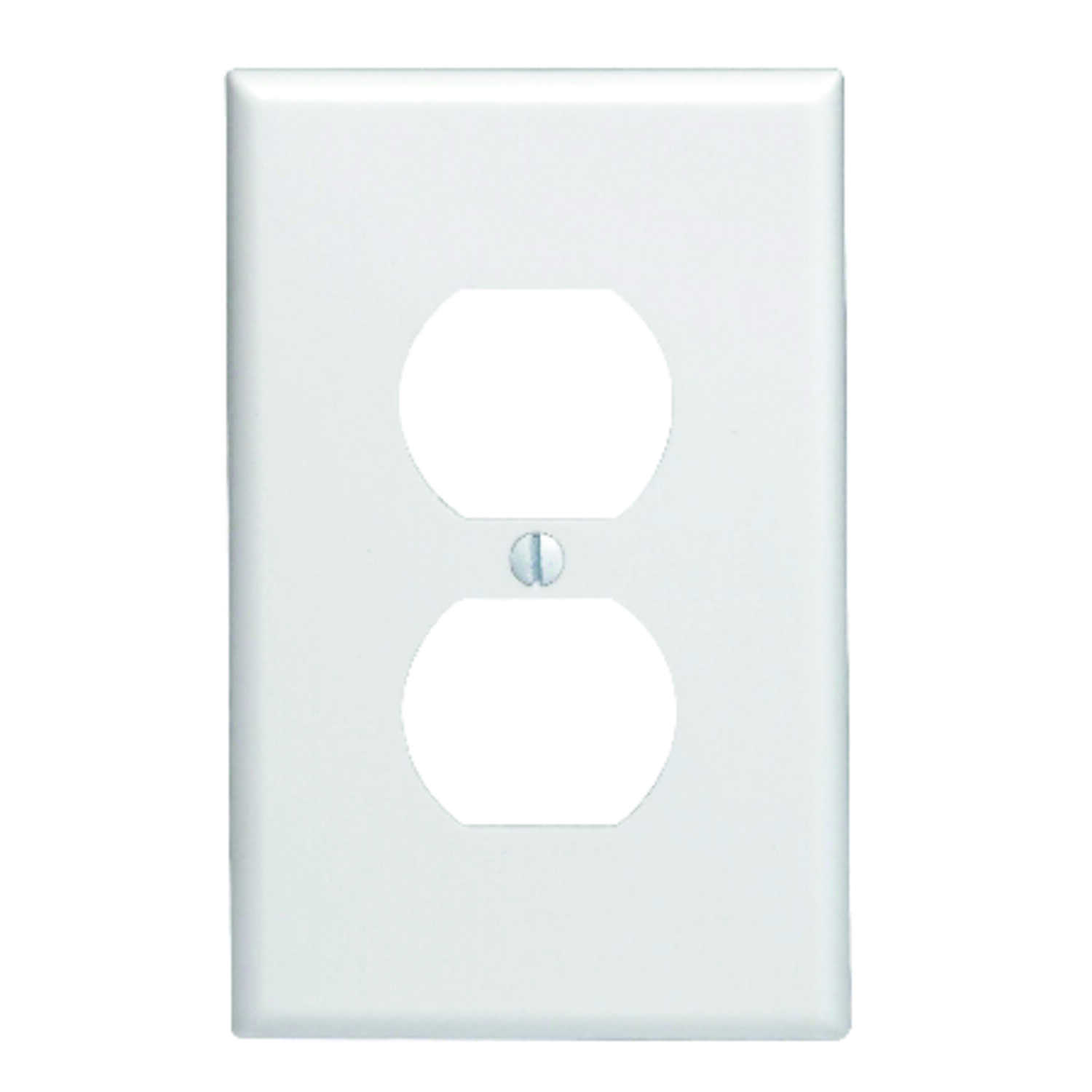 Leviton  White  1 gang Plastic  Duplex Outlet  Wall Plate  1 pk