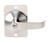 Tell Cortland Satin Chrome Entry Lever ANSI Grade 1 2 in.