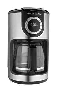 KitchenAid  Black  Coffee Maker  12 cups Black/White