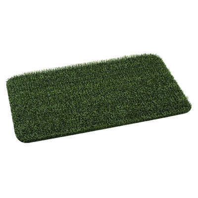 GrassWorx  Clean Machine  Flair  EverGreen  Polyethylene  Nonslip Door Mat  30 in. L x 18 in. W