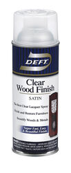 Deft  Satin  Clear  Oil-Based  Wood Finish Lacquer Spray  11.5 oz.