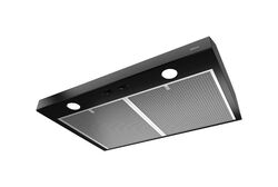 Broan  Glacier  29-7/8 in. W Black  Range Hood