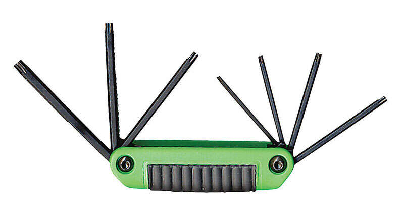 Eklind Tool Ergo-Fold Assorted Fold-Up Tamper Resistant Torx Hex Key Set Multi-Size in. 7 pc.