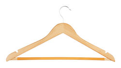 Honey Can Do  9-5/16 in. H x 7/16 in. W x 17-1/2 in. L Wood  Brown  Suit Hanger  4 pk