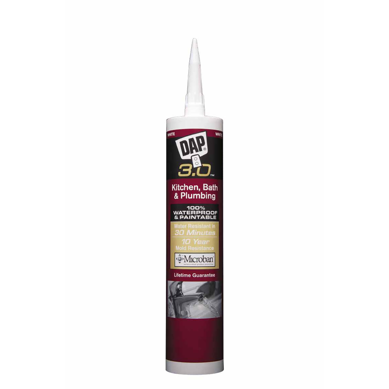 Dap  3.0  White  Sealant  9 oz. Polymer