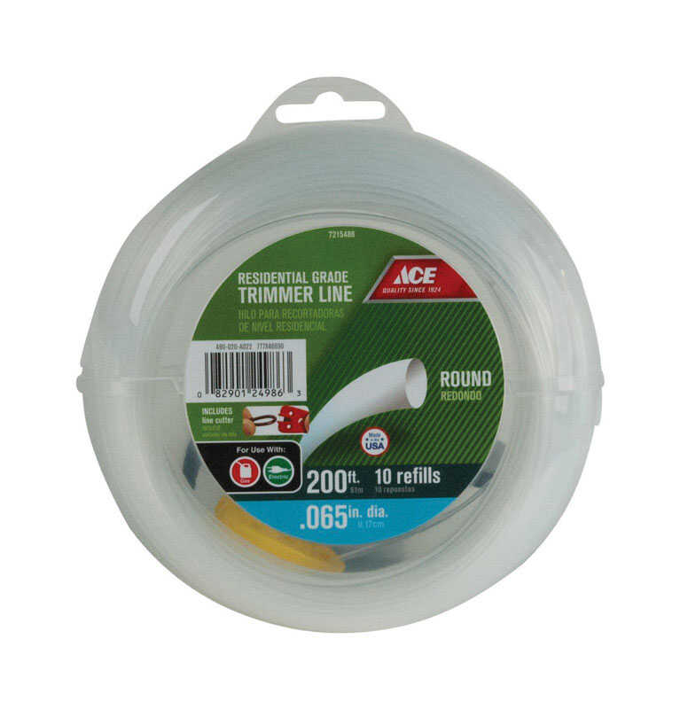Ace  Residential Grade  0.065 in. Dia. Trimmer Line