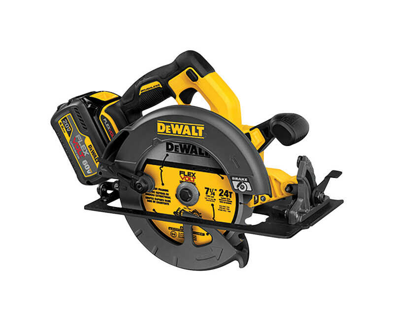DeWalt  FlexVolt  7-1/4 in. 60 max volts 15 amps Circular Saw  Kit 5800 rpm Cordless