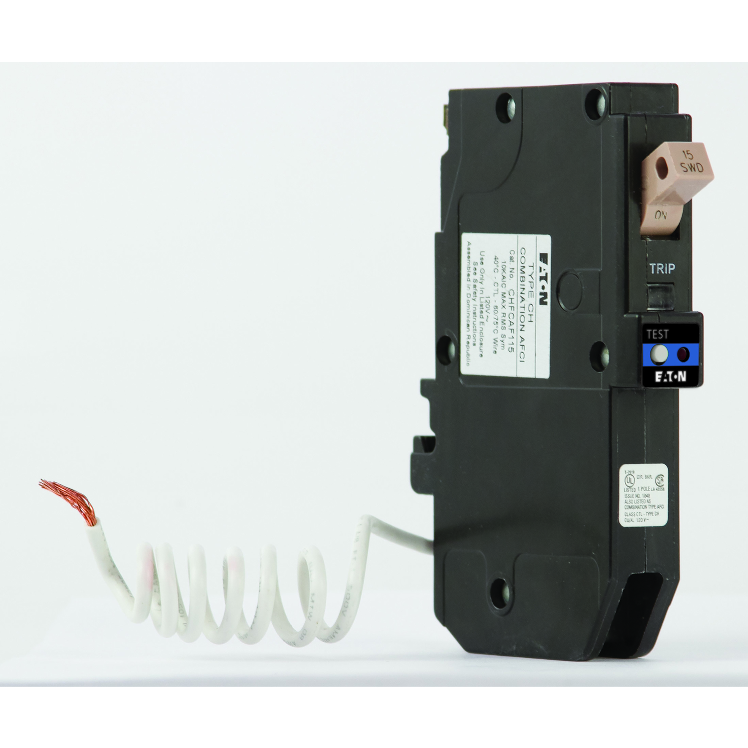 Eaton  Cutler-Hammer  15 amp  Arc Fault  Single Pole  Arc Fault Breaker