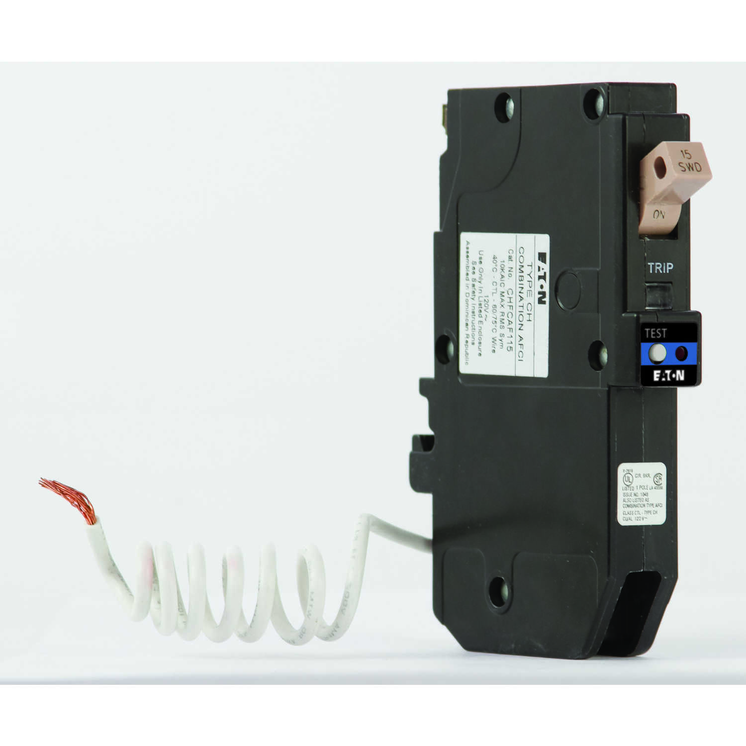 Eaton  Cutler-Hammer  15 amps Arc Fault  Single Pole  Circuit Breaker