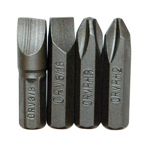 Great Neck  na  Multi Size   x 1 in. L Screwdriver Bit  4 pc.