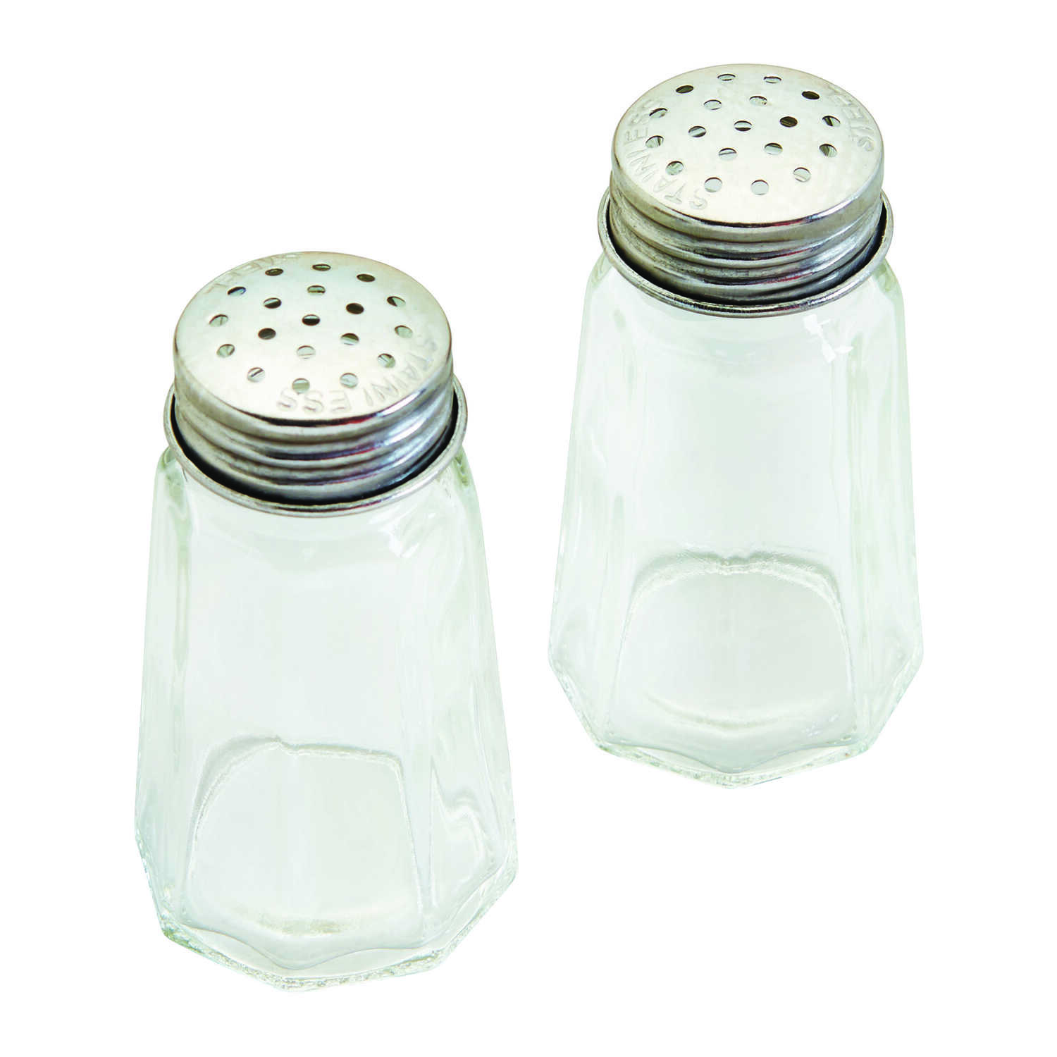 Good Cook  Clear  Glass  Salt and Pepper Shakers  2 pc.