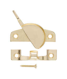 Ace  Bright Brass  Brass  Narrow Sash Lock  1 pk