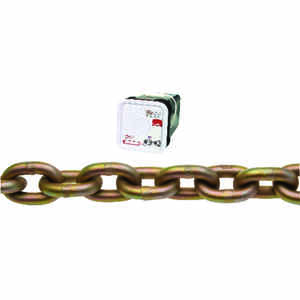 Campbell Chain  3/8 in. Oval Link  Carbon Steel  Transport Chain  3/8 in. Dia. x 45 ft. L