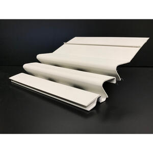 Crane  WaterFall  4 in. W x 4 ft. L White  PVC  Gutter Guard