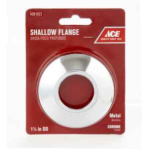 Ace  1-1/4 in. Metal  Shallow Flange