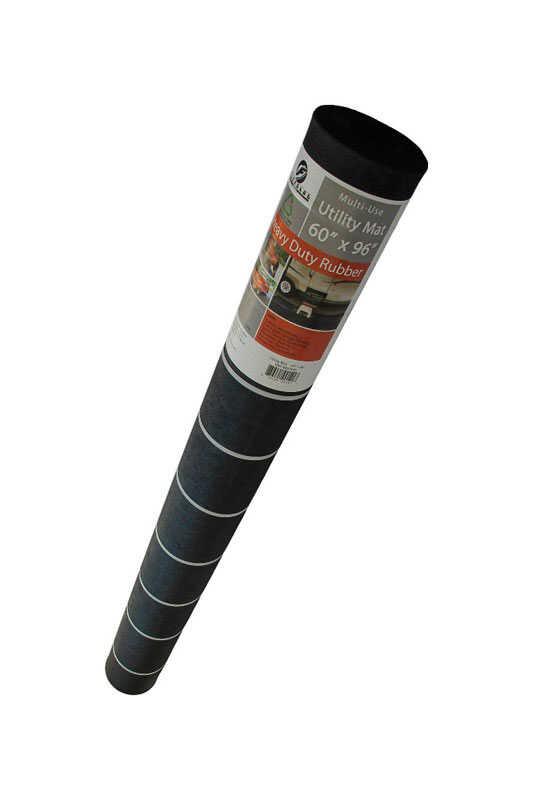 Flexgard Black Rubber Nonslip Utility Mat 96 In L X 60 In