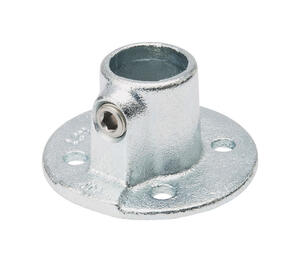 BK Products  3/4 in. Socket   Galvanized  Steel  Flange