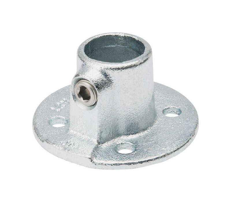 B & K  3/4 in. Socket   Galvanized  Steel  Flange