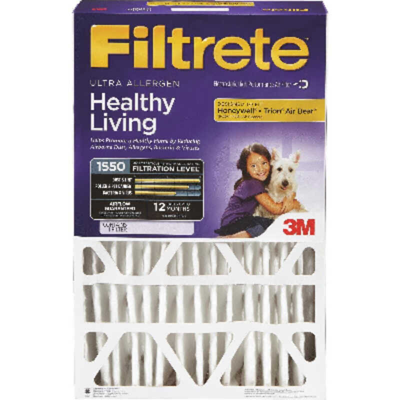 3M  Filtrete  20 in. W x 25 in. H x 4 in. D Pleated Air Filter